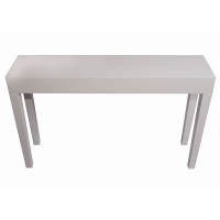 Table console de couleur blanche43x11x27''