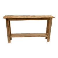 Table console en bois de grange