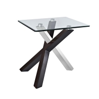 Table d'appoint en verre 22 x 26 x 24''