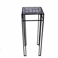 Table d'appoint métal/verre 13x13x28,5