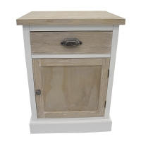 Bedside cabinet 1 drawer & 1 door, wood, 19 x 15 x 26''