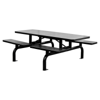 Black Steel Picnic Table