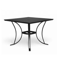 Table en lattes d'aluminium 36 x 36'', noire