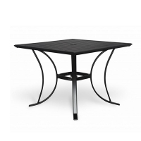 Aluminium slats table 48 x 48'', black