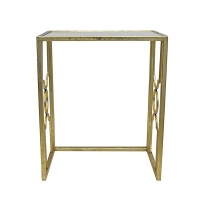 Decorative glass table gold 31.5x14x24''