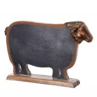 Tableau à craie en forme de mouton 15''