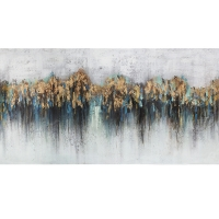 Large abstract canvas, high gloss finish 30 x 60''