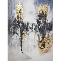 Hand-painted modern canvas, high gloss finish 36 x 48''