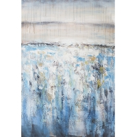 Abstract blue and white handpainting 31,5x47''
