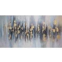 Modern hand-painted canvas, high gloss finish 30 x 60''