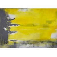 Tableau abstrait jaune, fini lustré 24 x 36''