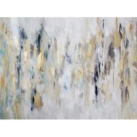 Tableau abstrait monochrome, fini lusté 36 x 48''