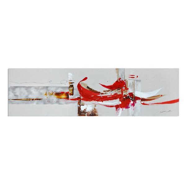 Tableau abstrait rouge et blanc 59x20 39 39 plantes et for Tableau blanc et rouge