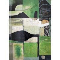 Tableau abstrait vert, fini lustré 24 x 36''