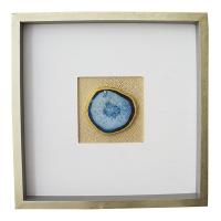 Tableau carré avec pierre, 16 x 1.5 x 16''