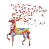 Colorful deer oil painting 40x40''