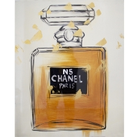 Chanel No.5 handpaint canvase, high gloss finish 24 x 30''