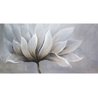 Large floral canvas, high gloss finish 30 x 60''