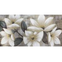 Toile florale, fini lustré 30 x 60''
