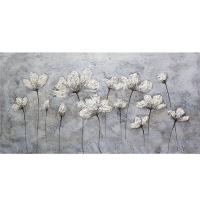 Tableau floral contemporain, fini lustré 30 x 60''