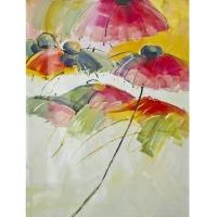 Tableau fleurs peint à la main 36x48''