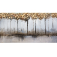 Abstract canvas, high gloss finish 30 x 60''