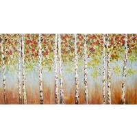 Tableau forêt d'automne, fini lustré 30 x 60''