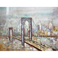 Tableau pont peint à la main, fini lustré 36 x 48''