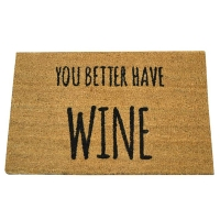 Doormat with Wine Quote