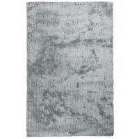 5x7' Silver shag rug