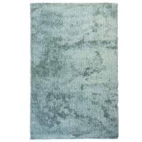 Tapis shag bleu pâle 5x7'