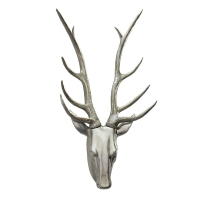 Silver decorative deer head 25''