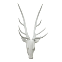 White decorative deer head 25''