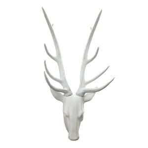 T te de chevreuil blanche lustr e 25 39 39 d cors v ronneau for Tete de chevreuil decoration