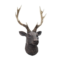 Brown decorative deer head 17,75''