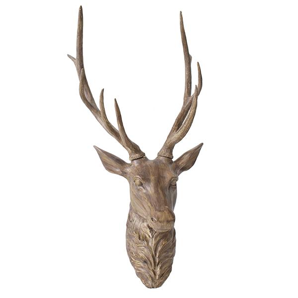 T te de chevreuil brune 36 39 39 d cors v ronneau - Tete de chevreuil decoration ...