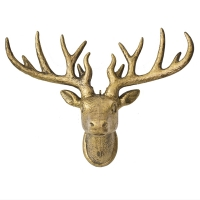 Gold plastic deer head 17''