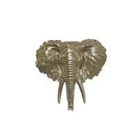Gold elephant head 16''
