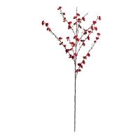50'' Red sakura blossom branch