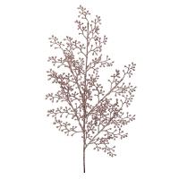 Tige de petites baies brillantes rose pâle, 23''