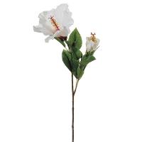 Tige d'hibiscus blanc 26''