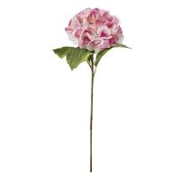 Tige d'hydrangée rose 19''