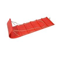 Toboggan en bois rouge 20''