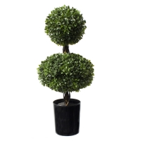 19'' Artificial boxwood ball topiary