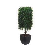 19'' Artificial boxwood square column topiary
