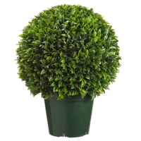 29'' Plastic italian bayleaf ball topiary in pot int./ext.