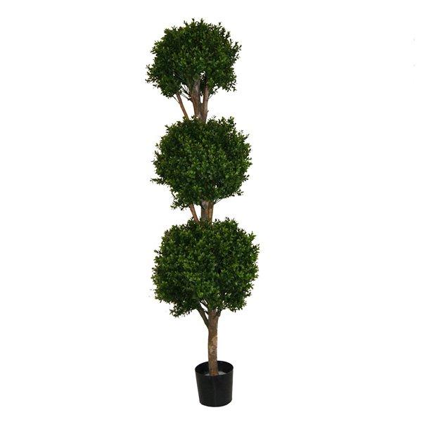 Arbuste topiaire de buis artificiel 5 5 39 d cors v ronneau for Arbuste buis artificiel