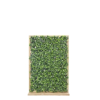 Faux Greenery Privacy Fence on Wood Base, 53x36''