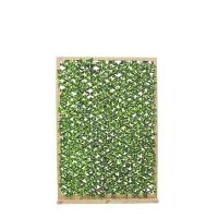 Faux Foliage Privacy Lattice on Wood Base, 67x46''