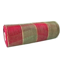 Christmas mesh roll red & green 10''/ 10 yards